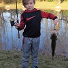 Fall fishing: Eli Coxe at his farm pond in Richland Township.<br /> <br /> Photographer's Name: J.R. Rosencrans<br /> Photographer's City and State: Alexandria, Ind.