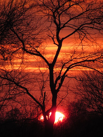 A mid-November sunset, seen in Madison County.<br /> <br /> Photographer's Name: Harry Van Noy<br /> Photographer's City and State: Lafayette Township, Ind.