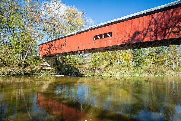 Cox Ford Covered Bridge at Turkey Run State Park.<br /> <br /> Photographer's Name: Barbara Grimball<br /> Photographer's City and State: Anderson, Ind.