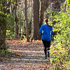 A jogger is enjoying a warm and pretty fall day at Mounds Park.<br /> <br /> Photographer's Name: Jerry Byard<br /> Photographer's City and State: Anderson, Ind.