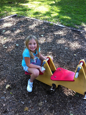 My granddaughter Lilly McIntyre enjoying summer's end at Shadyside Park.<br /> <br /> Photographer's Name: Tina Snyder<br /> Photographer's City and State: Anderson, Ind.