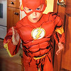 """Eli Coxe in his """"Flash"""" Halloween suit.<br /> <br /> Photographer's Name: J.R. Rosencrans<br /> Photographer's City and State: Alexandria, Ind."""