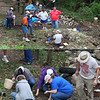 An archaeological dig conducted by Ball State at Mounds Park was held behind the Bronnenbergh House over the weekend. <br /> <br /> Photographer's Name: Jerry Byard<br /> Photographer's City and State: Anderson, Ind.