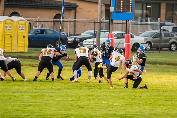 My son Dawson Ayers kicking an extra point for Lapel football.<br /> <br /> Photographer's Name: Terry Lynn Ayers<br /> Photographer's City and State: Anderson, Ind.