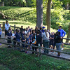 A school group learning of the history at the Great Mound at Mounds Park.<br /> <br /> Photographer's Name: Jerry Byard<br /> Photographer's City and State: Anderson, Ind.