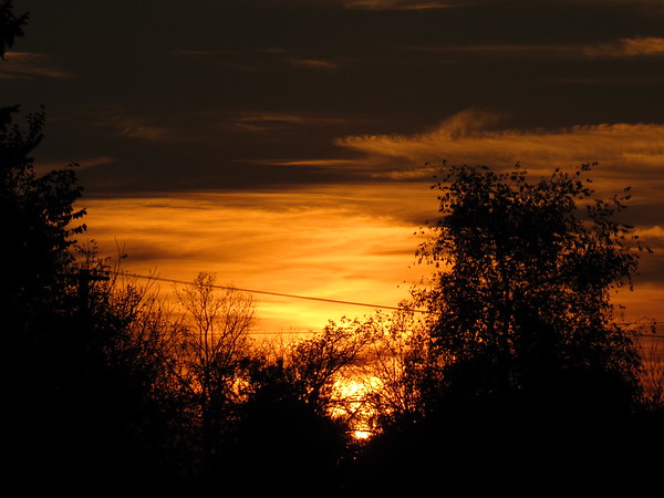 A Thursday night sunset.<br /> <br /> Photographer's Name: Harry Van Noy<br /> Photographer's City and State: Lafayette Township, Ind.