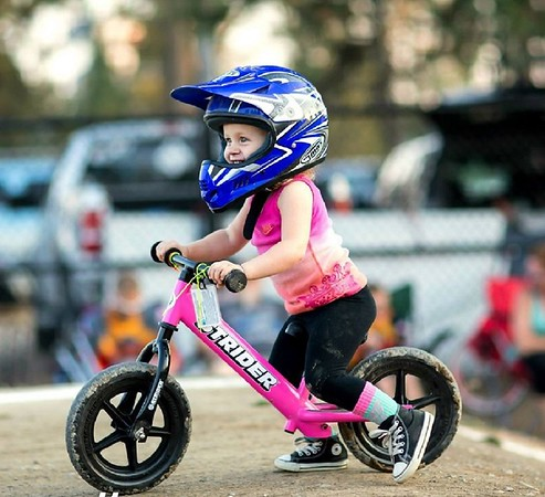 My niece Alisa, 4, on her strider bike during the races.<br /> <br /> Photographer's Name: Nicole Winkler<br /> Photographer's City and State: Anderson, Ind.