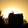 Sundown at the Tower Apartment building.<br /> <br /> Photographer's Name: Harry Van Noy<br /> Photographer's City and State: Lafayette Township, Ind.