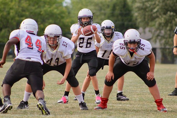 Lapel seventh grade football at Highland Middle School.<br /> <br /> Photographer's Name: Andy Lutz<br /> Photographer's City and State: Anderson, Ind.