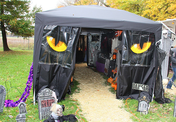 One of the campsite Halloween decorations at Mounds Park.<br /> <br /> Photographer's Name: Jerry Byard<br /> Photographer's City and State: Anderson, Ind.