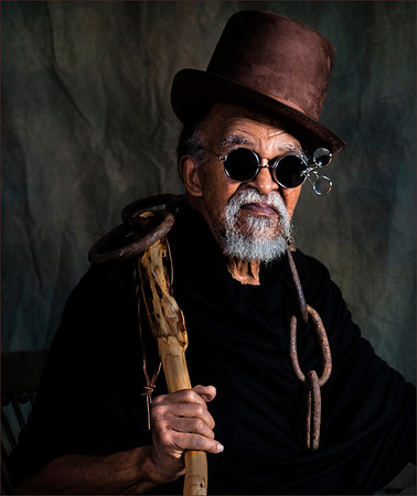 Ray Grimball of Edgewood dresses up as a wizard for Halloween. Photo taken by his wife Barbara Spicer Grimball.<br /> <br /> Photographer's Name: Barbara Grimball<br /> Photographer's City and State: Anderson, Ind.