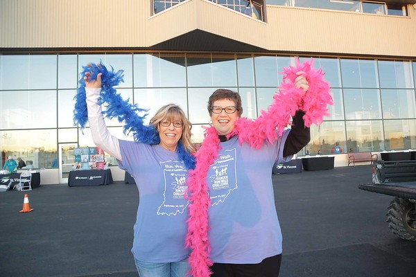 Amy Stohler and Jane Loose chaired the St. Vincent Cancer Challenge on September 30, which raised $45,000 for a patient transport van.<br /> <br /> Photographer's Name: Dale Pickett<br /> Photographer's City and State: Anderson, Ind.