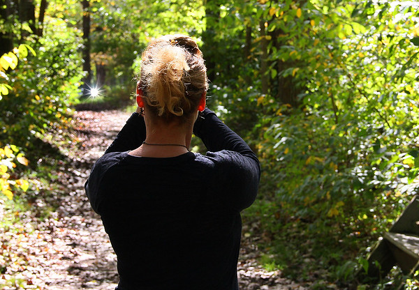 A friend photographing a trail and the light at the end at a county park.<br /> <br /> Photographer's Name: Jerry Byard<br /> Photographer's City and State: Anderson, Ind.