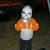 """Pint-sized """"spook:"""" great-grandson Sean.<br /> <br /> Photographer's Name: Linda Fesmire<br /> Photographer's City and State: Markleville, Ind."""