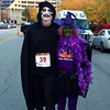 Sammy Terry and his witch date for the Fright Night 5K run in Indy.<br /> <br /> Photographer's Name: Janet Hoffman<br /> Photographer's City and State: Frankton, Ind.