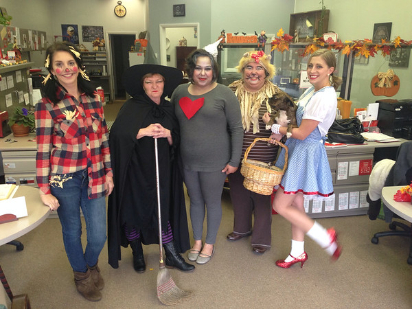 Employees from Lindsey Cuneo State Farm in Alexandria dressed up as characters from The Wizard of Oz.<br /> <br /> Photographer's Name: Carrie Long<br /> Photographer's City and State: Alexandria, Ind.