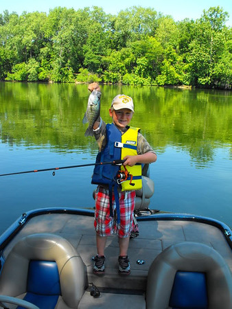 The Catch! Lucas Coxe fishing at Shadyside Lake.<br /> <br /> Photographer's Name: J.R. Rosencrans<br /> Photographer's City and State: Alexandria, Ind.