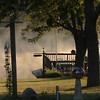 The backyard of our home, with an early morning fog on the pond.<br /> <br /> Photographer's Name: Bill Creel<br /> Photographer's City and State: Pendleton, Ind.