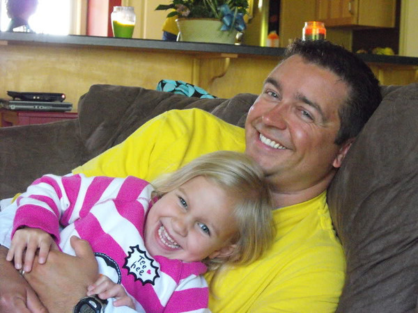 """""""Quality Time:"""" Ryan Gray with his daughter Allie Gray, doing what dads do best.<br /> <br /> Photographer's Name: J.R. Rosencvrans<br /> Photographer's City and State: Alexandria, Ind."""
