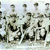 """Fairmount 1948 American Legion Baseball. Back Row:  Paul Weaver (coach), Ray Turner, Richard """"Pete"""" Beck, Vic Hilton, Vince Bournique, Jim Smith.<br /> <br /> Photographer's Name: Ray Turner<br /> Photographer's City and State: Anderson, Ind."""