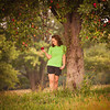 My daughter Nannette Ayers under the apple tree in the front yard.<br /> <br /> Photographer's Name: Terry Lynn Ayers<br /> Photographer's City and State: Anderson, Ind.