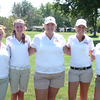 The Anderson High School girls golf team at the NCC Golf Meet at Edgewood Golf Course. Pictured are, from left: Morgan Wiley, Regan Couch, Morgan Nadaline, Kylie Porter, and Claire Thompson.<br /> <br /> Photographer's Name: Tammy Wiley<br /> Photographer's City and State: Anderson, Ind.