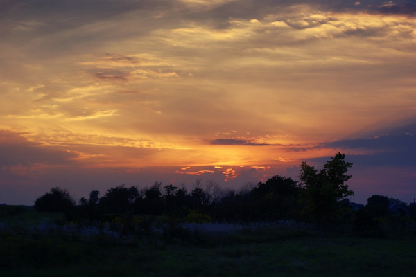The sunset on Sept. 7 from near Salimonie Reservoir.  Photographer's Name: Morgan Elbert Photographer's City and State: Alexandria, Ind.