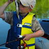 """""""Just like they do on TV:"""" Lucas Coxe fishing at Shadyside Lake.<br /> <br /> Photographer's Name: J.R. Rosencrans<br /> Photographer's City and State: Alexandria, Ind."""