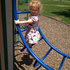 My 2-year-old granddaughter Ella at Shadyside playing on the fun things there. She loves to go there.<br /> <br /> Photographer's Name: Kathy Stoops<br /> Photographer's City and State: Anderson, Ind.
