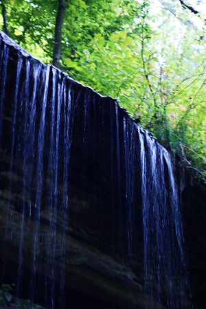 A waterfall on Three Falls Trail at Salimonie Reservoir.  Photographer's Name: Morgan Elbert Photographer's City and State: Alexandria, Ind.