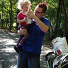 My son Jason and his daughter Ella walking the nature trail at Shadyside Park on Wednesday. Enjoying a sweet tea from McDonalds.<br /> <br /> Photographer's Name: Kathy Stoops<br /> Photographer's City and State: Anderson, Ind.