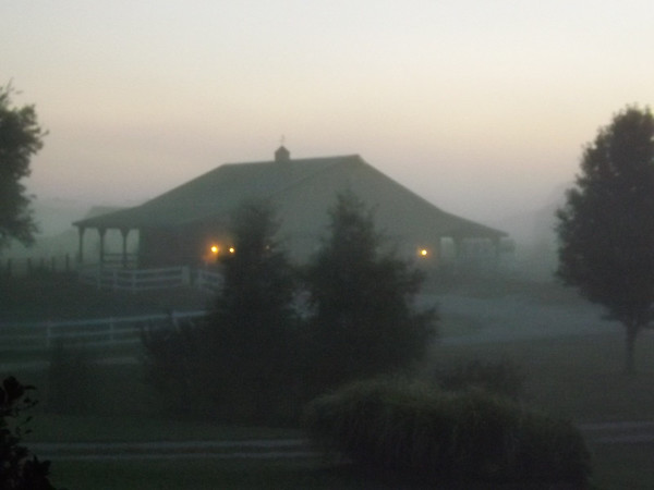 Barn fog in Richland Township.<br /> <br /> Photographer's Name: J.R. Rosencrans<br /> Photographer's City and State: Aleandria, Ind.
