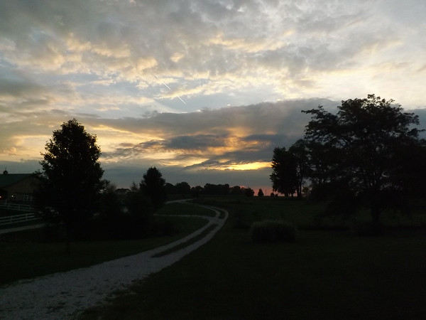 Daybreak on the farm in Richland Township.<br /> <br /> Photographer's Name: J.R. Rosencrans<br /> Photographer's City and State: Alexandria, Ind.