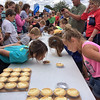 Frankton Heritage Days Pie Eating Contest.<br /> <br /> Photographer's Name: Kathy Wehrley<br /> Photographer's City and State: Anderson, Ind.