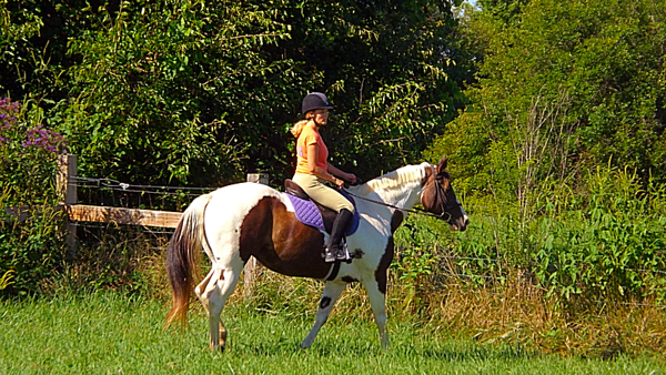 Autumn Carr Coxe with her horse Luna, taken in Richland Township.<br /> <br /> Photographer's Name: J.R. Rosencrans<br /> Photographer's City and State: Alexandria, Ind.