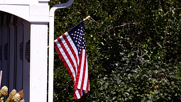 Labor Day: An American worker displays a U.S. flag in Richland Township.<br /> <br /> Photographer's Name: J.R. Rosencrans<br /> Photographer's City and State: Alexandria, Ind.