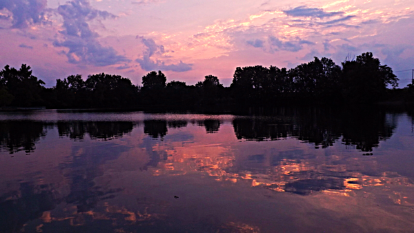 Shadyside sunrise at Shadyside Lake.<br /> <br /> Photographer's Name: J.R. Rosencrans<br /> Photographer's City and State: Alexandria, Ind.