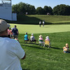 Friend Dale Lechlitner watches PGA golfer Dustin Johnson at the BMW Playoffs at the Crooked Stick Golf Course.<br /> <br /> Photographer's Name: Jerry Byard<br /> Photographer's City and State: Anderson, Ind.
