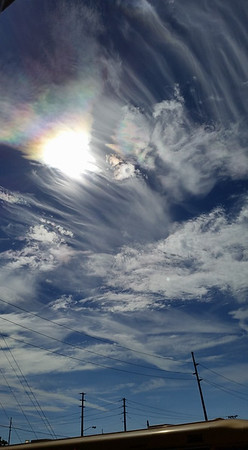 Sun crystals in the sky on Sept 13, 2016.<br /> <br /> Photographer's Name: Jenee Wilber<br /> Photographer's City and State: Anderson, Ind.