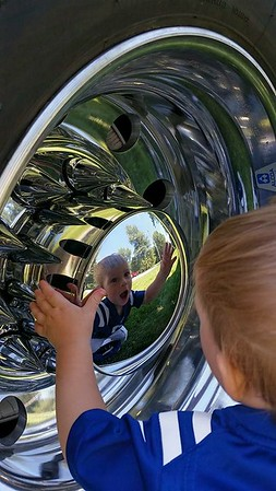 Liam Hollowell enjoying his Labor Day looking at big trucks! <br /> <br /> Photographer's Name: Rachael Hollowell<br /> Photographer's City and State: Anderson, Ind.