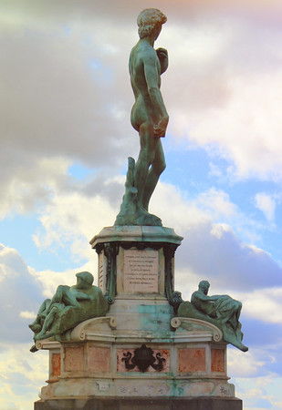 Statue of David at the Piazza Michaelangelo in Florence, Italy.<br /> <br /> Photographer's Name: Laura Johnson<br /> Photographer's City and State: Alexandria, Ind.