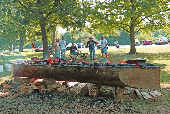 A new dugout canoe is currently being made at Mounds State Park.<br /> <br /> Photographer's Name: Pete Domery<br /> Photographer's City and State: Markleville, Ind.