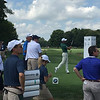 PGA Professional Jason Day teeing off on a practice day at the Crooked Stick Golf course.<br /> <br /> Photographer's Name: Jerry Byard<br /> Photographer's City and State: Anderson, Ind.