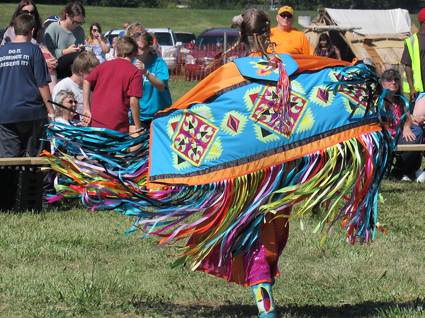 A dancer at the Andersontown Powwow.<br /> <br /> Photographer's Name: Harry Van Noy<br /> Photographer's City and State: Lafayette Township, Ind.