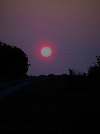 Smoky sunrise in Richland Township.<br /> <br /> Photographer's Name: J.R. Rosencrans<br /> Photographer's City and State: Alexandria, Ind.