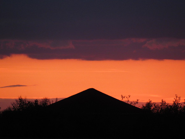 Sunset at an Indiana pyramid.<br /> <br /> Photographer's Name: Harry Van Noy<br /> Photographer's City and State: Lafayette Township, Ind.