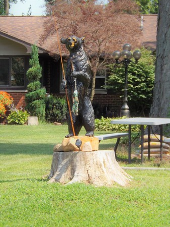 Indiana yard art at its best at Lake Shafer.<br /> <br /> Photographer's Name: J.R. Rosencrans<br /> Photographer's City and State: Anderson, Ind.