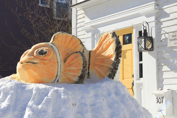 Snow sculpture inspired by Blizzard of 2013<br /> <br /> Photographer's Name: Kristen Christopher<br /> Photographer's City and State: Rockport, MA