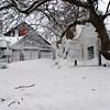Photo courtesy of James Atkinson/Gloucester Daily Times. Snowbound Bearskin Neck, Rockport.