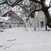 Photo courtesy of James Atkinson/Gloucester Daily Times. Snowbound Bearskin Neck, Rockport.